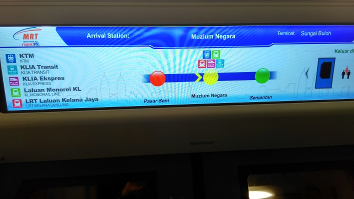 E-Display inside train